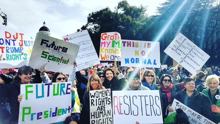 Woman's March Sacramento, January 21, 2017. Photo Anica Terbijhe.