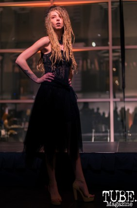 Daniel Laukat Couture at Vintage Swank ArtMix, Crocker Art Museum, March 2017. Photo Emma Montalbano
