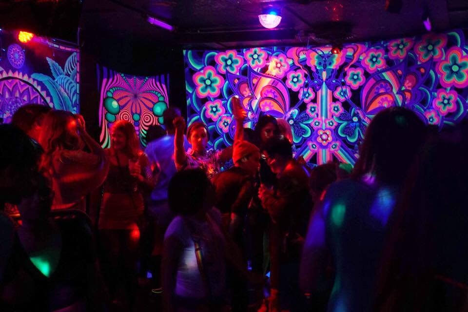 TUBE.'s dance party and coloring book issue release, DOPE. The Press Club, Sacramento CA. April 2017. Photo Joey Miller.