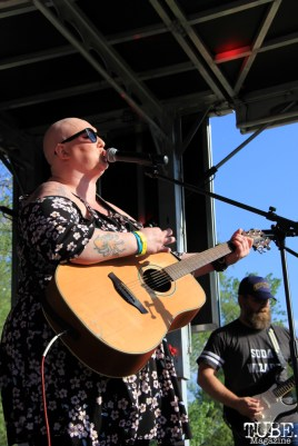 Carly DuHain of Drop Dead Red, First Festival, River Walk, Sacramento, CA. May 2017. Photo Anouk Nexus