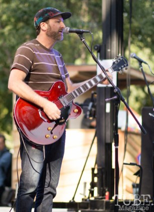 Eric Warren, Singer and Guitarist for Salt Wizard. Concert in the Park, Sacramento CA 2017