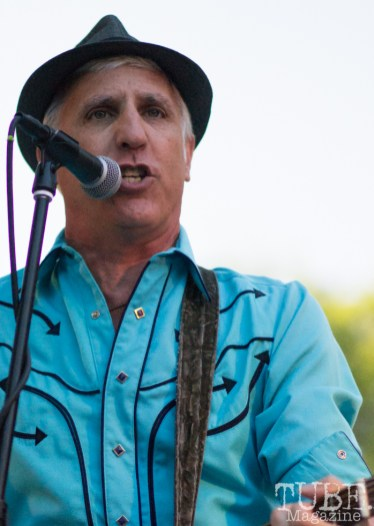 Tony Brusca, Singer and Guitarist for the Nickel Slots. Concert in the Park, Sacramento CA 2017 Photo Dan Tyree