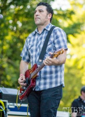 Steve Amaral -Guitarist for the Nickel Slots. Concert in the Park, Sacramento CA 2017 Photo Dan Tyree