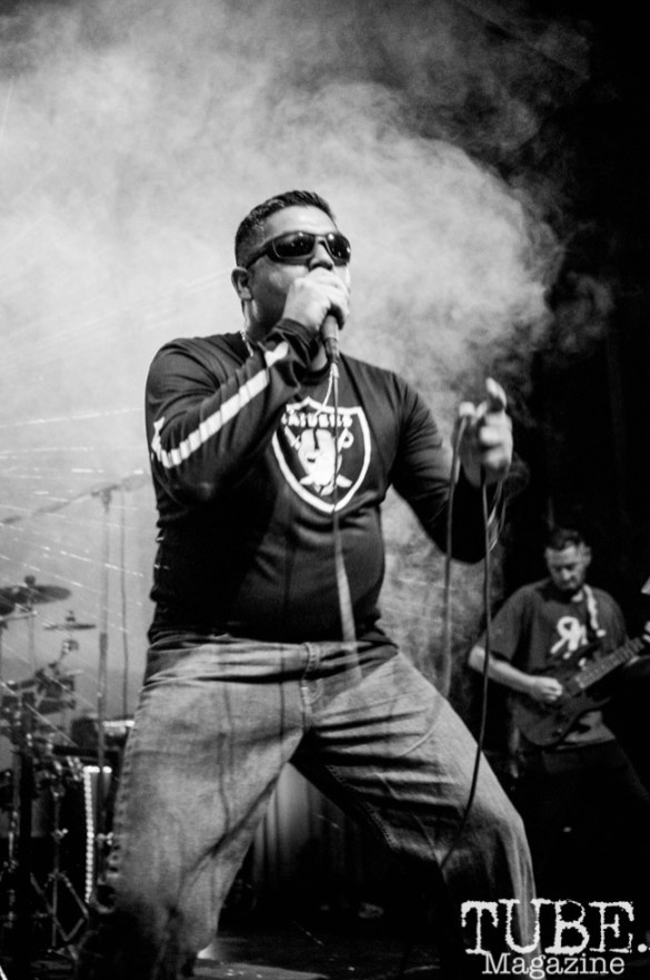 Lead singer of Sour Diesel performing at Colonial Fest, in Sacramento CA. May 2017. Photo Heather Uroff