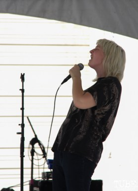 Vocalist Alexandra Steele of Sunmonks, R Street Block Party and Makers Mart, WAL Public Market, Sacramento, CA. June 24, 2017. Photo Anouk Nexus