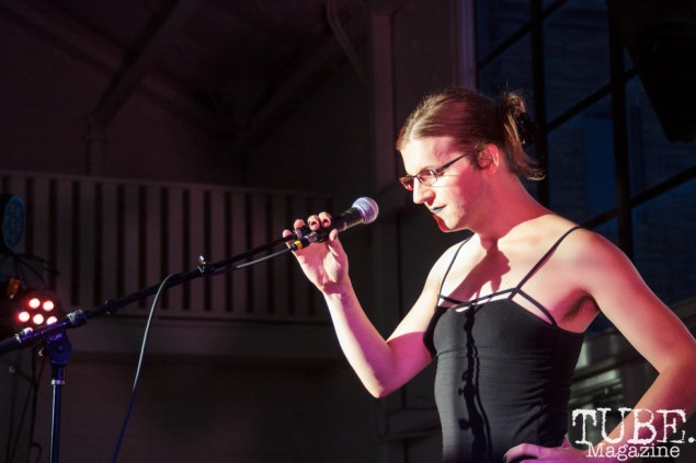 Overstate(Cerah Rowley) performing in Sacramento CA for Ladyfest. July 22, 2017. Photo Cam Evans