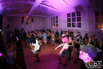 The crowd for Crude Studs in Sacramento CA for Ladyfest. July 22, 2017. Photo Cam Evans