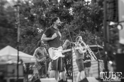 Chuck Robertson, from the Mad Caddies, performs at Concert in the Park, in Sacramento Ca. June 2017. Photo Heather Uroff.