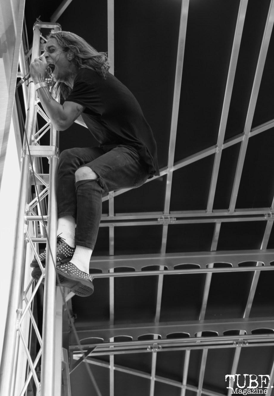 Lead Vocalist Hayden Coplen of Sir Sly, City of Trees, Papa Murphy's Park, Sacramento, CA. September 24th, 2017. Photo Anouk Nexus