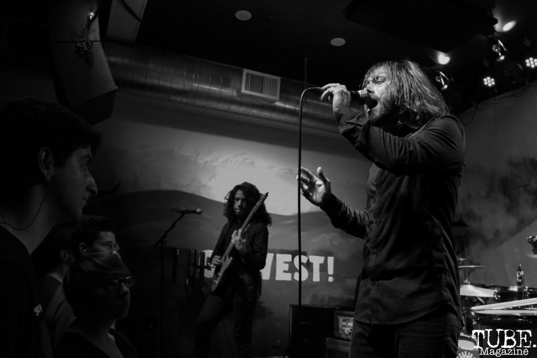 Guitarist Sergio Medina and Vocalist Carlo Marquez of Stolas, Goldfield Trading Post, Sacramento, CA. September 5, 2017. Photo Anouk Nexus