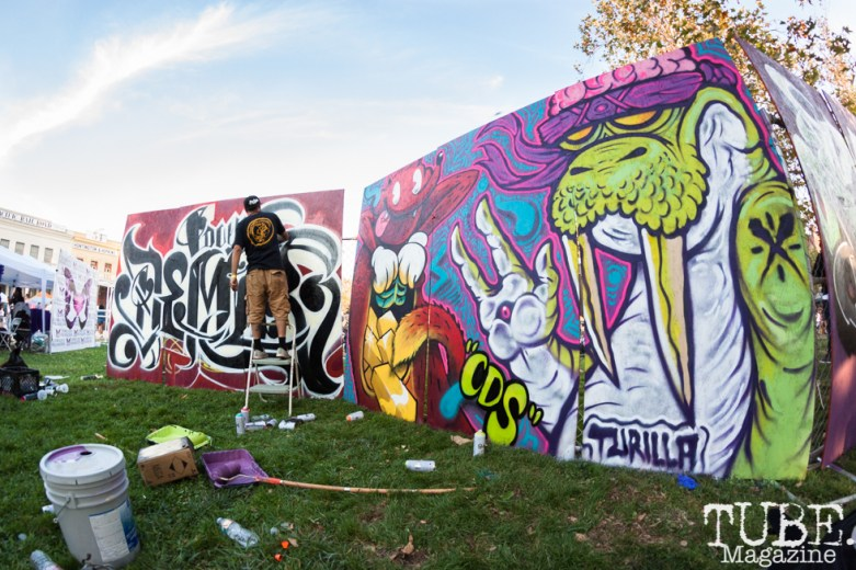 MSTRMNDCREATIVE and Turilla art pieces at HOFDAY in Sacramento, CA (9/16/2017). Photo Cam Evans.