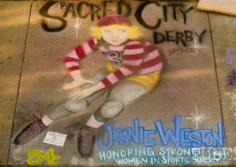 Sacred City Derby, Chalk It Up, Fremont Park, Sacramento, CA, September 4, 2017 Photo Dan Tyree