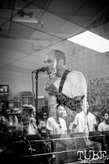 Boy Romeo performing at Phono Select Records, in Sacramento CA. September 2017. Photo Heather Uroff.