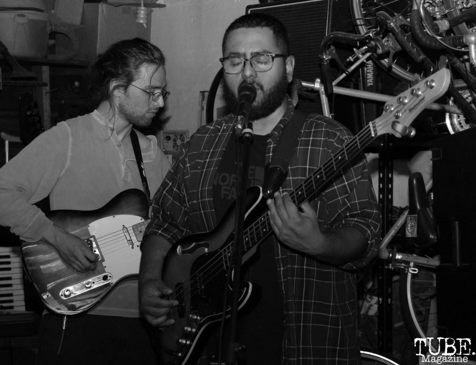 Bassist Jesse Botello of Sundae Crush Performing at Someone's House, Sacramento, CA. October 10, 2017. Photo Anouk Nexus