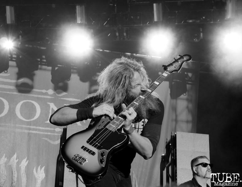Vocalist/Bassist Troy Sanders of Mastodon, Aftershock, Discovery Park, Sacramento, CA. October 21, 2017. Photo Anouk Nexus