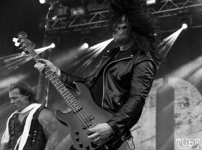 Bassist Paul Di Leo of Fozzy, Aftershock, Discovery Park, Sacramento, CA. October 22, 2017. Photo Anouk Nexus