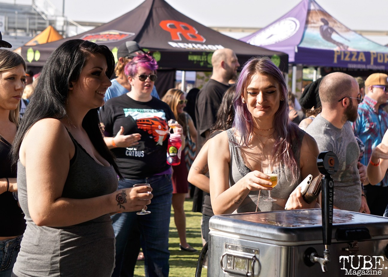 Faces in the Crowd, Punk in Drublic Craft Beer and Music Festival at Papa Muphy's Park, Sacramento CA, October 15th 2017. Photo Joey Miller