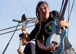 Roger Lima of Less Than Jake at Punk in Drublic Craft Beer and Music Festival at Papa Muphy's Park, Sacramento CA, October 15th 2017. Photo Joey Miller