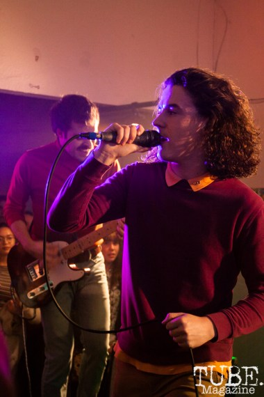 Chris and Neil of Peach Pit performing at Sol Collective in Sacramento, CA (12/12/2017). Photo Cam Evans