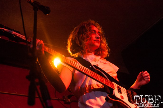 Eva Treadway of The She's performing at Cafe Colonial in Sacramento, CA (1/10/2018). Photo Cam Evans