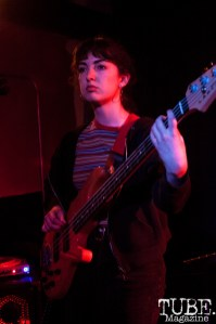 Claire of Boy Romeo performing at Cafe Colonial in Sacramento, CA (1/10/2018). Photo Cam Evans