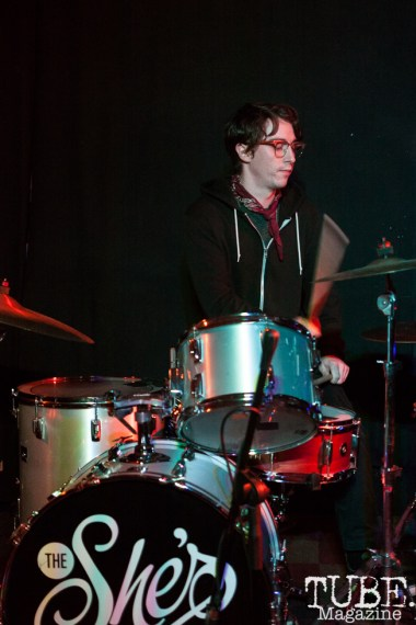 Otto Janes of Same Girls performing at Cafe Colonial in Sacramento, CA (1/10/2018). Photo Cam Evans
