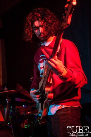 Dwain of The Ex-Rippers performing at Cafe Colonial in Sacramento, CA (1/10/2018). Photo Cam Evans