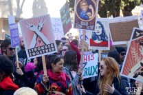 Faces in the Crowd along the Women's March, Sacramento CA. January 2018. Photo Joey Miller