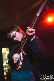 Garrett Gebhardt of Pierce and The Gals performing at Cafe Colonial in Sacramento for Instagon's 25th anniversary show (2/2/2018). Photo Cam Evans