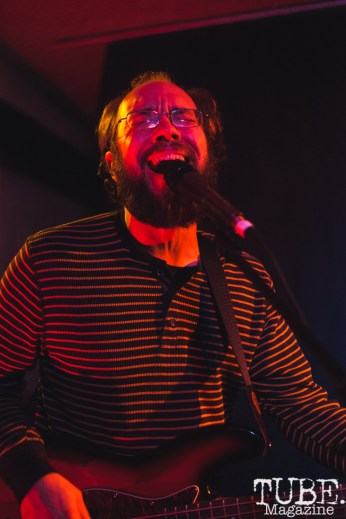 Matt of Sir Corduroy performing at Cafe Colonial in Sacramento for Instagon's 25th anniversary show (2/2/2018). Photo Cam Evans