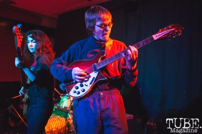 Garrett and Claire of Pierce and The Gals performing at Cafe Colonial in Sacramento for Instagon's 25th anniversary show (2/2/2018). Photo Cam Evans