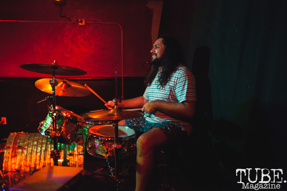 Luis Cruz of Pierce and The Gals performing at Cafe Colonial in Sacramento for Instagon's 25th anniversary show (2/2/2018). Photo Cam Evans