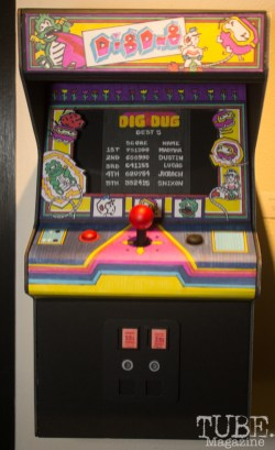 """""""Dig Dug"""" by Sarah Nixon for Menagerie's Stranger Things 2 Show at Outlet Co-working, Sacramento, CA January 27, 2018, Photo by Dan Tyree"""