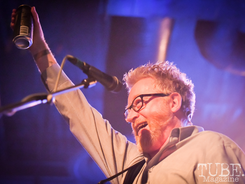 Cheers! Dave Kind of Flogging Molly, Ace of Spades, Sacramento, CA, March 21, 2018. Photo by Daniel Tyree