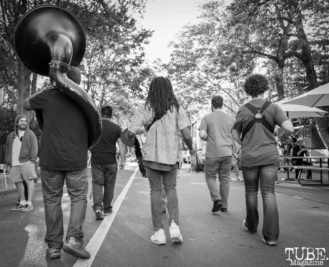 The Element Brass Band, The 24k Block Party, May 19, 2018, Sacramento, CA, Photo by Daniel Tyree
