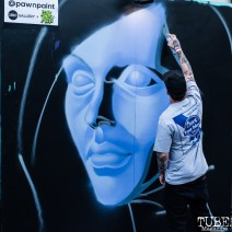 Lord Pawn live painting, The 24k Block Party, May 19, 2018, Sacramento, CA, Photo by Mickey Morrow