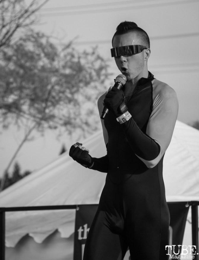 Skyler Michael vocalist/guitarist of NYTVZN, First Festival, Tanzanite Park, Sacramento, CA, May 6th, 2018, Photo by Anouk Nexus