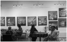 """Patris Studio and Gallery reception for """"The Broadway Rain Series"""" in Sacramento CA. May 4th, 2018. Artwork featured by Patris Miller. Photo Benz Doctolero"""