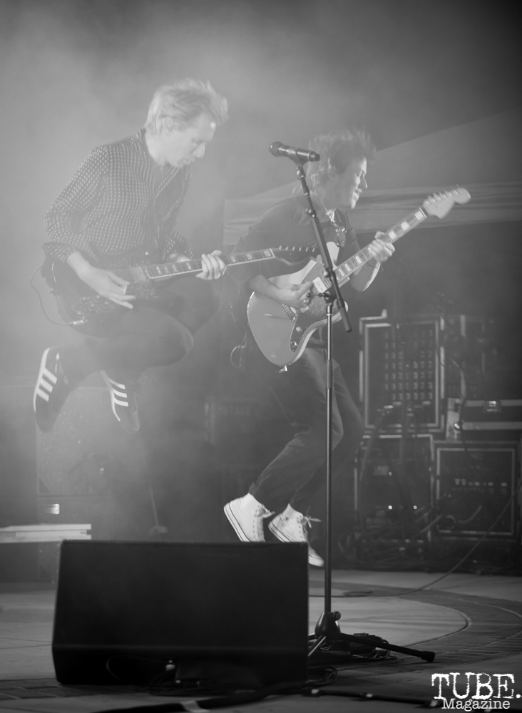 Alex Kapranos and Dino Bardot of Franz Ferdinand, Concerts in the Park, Sacramento, CA, May 18, 2018, Photo by Daniel Tyree