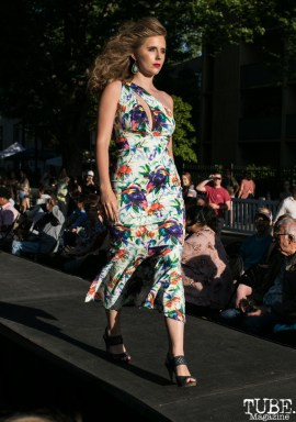 Annah Curtis wearing clothes from LadyBuggz Boutique, Dress Up-Wine Down, Capitol Avenue, Sacramento, CA. May 12th, 2018. Photo Mickey Morrow