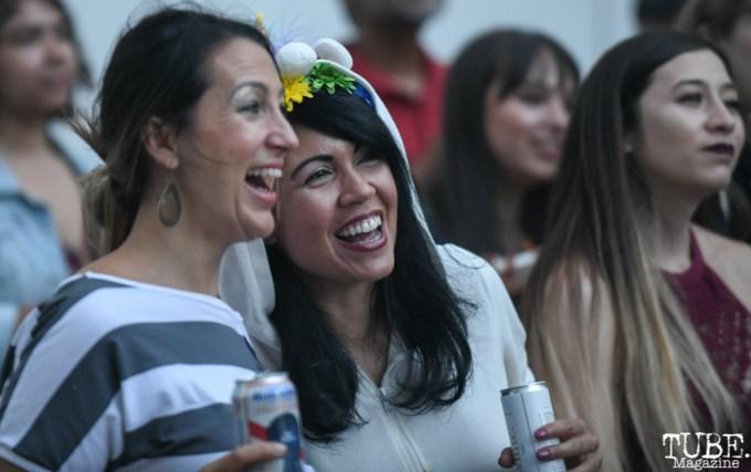 Lanaya Treijo and Christina Martinez at Art Mix Pride: The Musical, Crocker Art Museum, Sacramento, CA, June, 14, 2018, Photo by Daniel Tyree