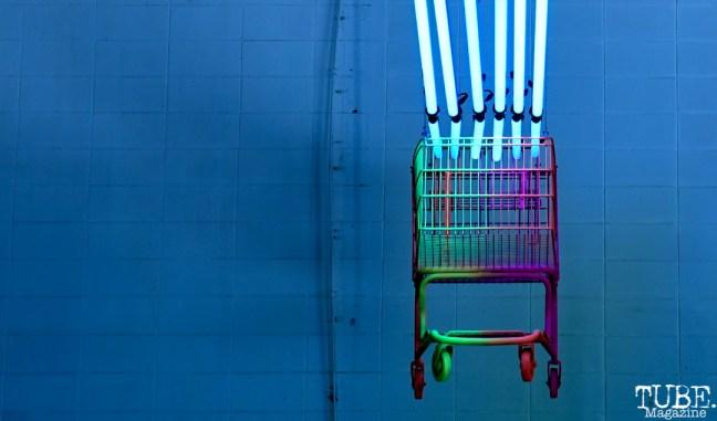 Alex Trujillo's Installation, Light.Wav Sacramento Tech-Art Showcase, Sacramento, CA, June 16, 2018, Photo by Daniel Tyree