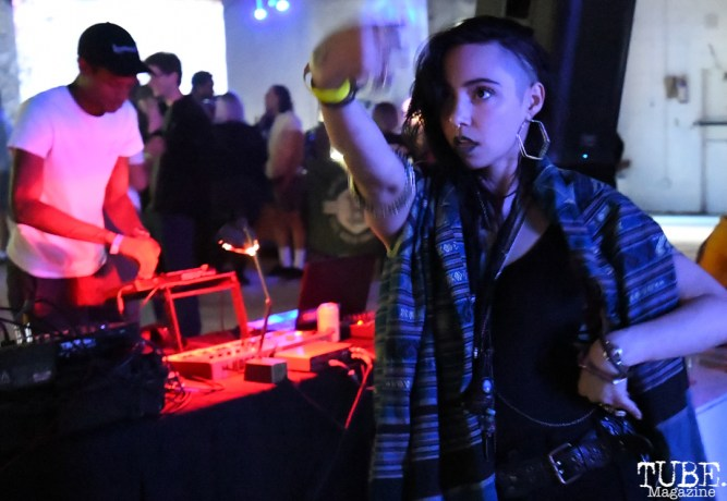 Dancing at Light.Wav, Light.Wav Sacramento Tech-Art Showcase, Sacramento, CA, June 16, 2018, Photo by Daniel Tyree