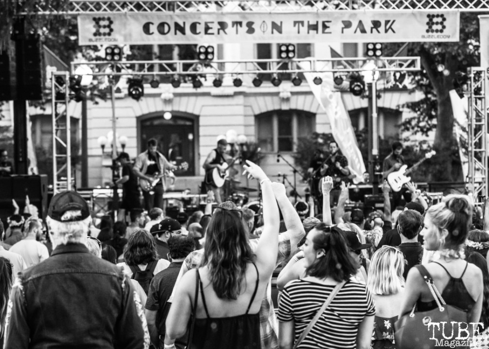Attendees, Concerts in the Park, Cesar Chavez Park, Sacramento, CA. June 15th, 2018. Photo Mickey Morrow