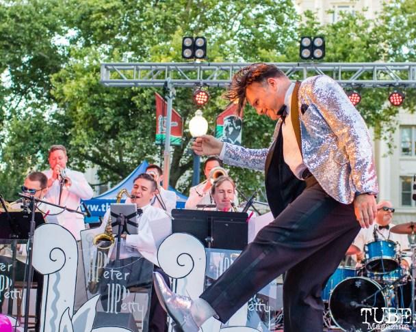 Peter Petty, Concerts in the Park, Cesar Chavez Park, Sacramento, CA. June 8, 2018. Photo Mickey Morrow