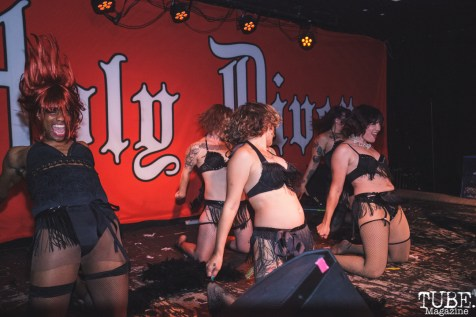 Indiana Bones Burlesque Dance Class recitals at Holy Diver for the Grrrly Show in Sacramento, CA (6/22/2018). Photo Cam Evans