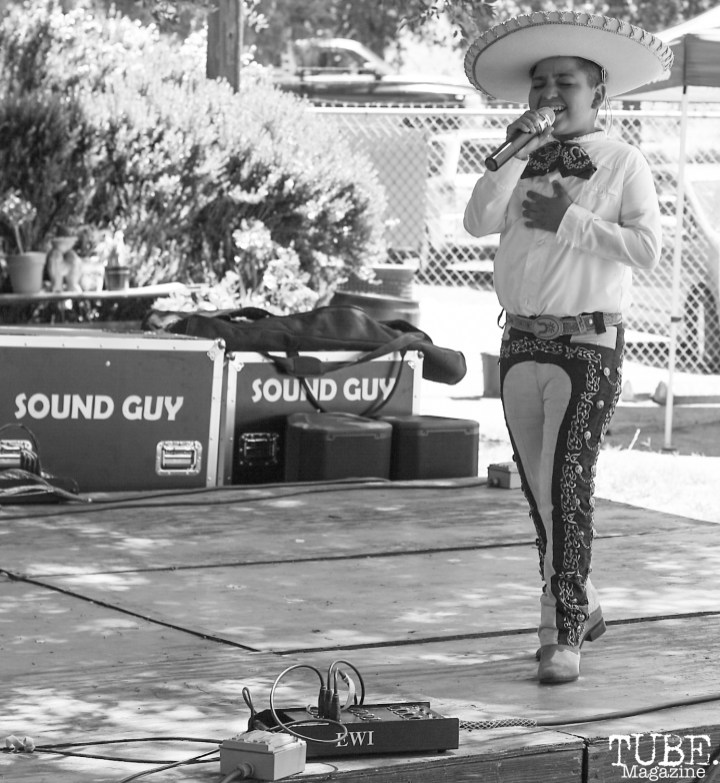 Marco Ramos sings at Festival de Frida, Sacramento, CA, July 8, 2018, Photo by Daniel Tyree