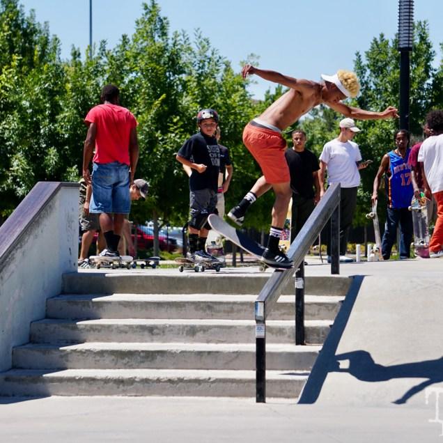 James Wright skating at the Mather AM Sacramento CA. June 2018. Photo Joey Miller