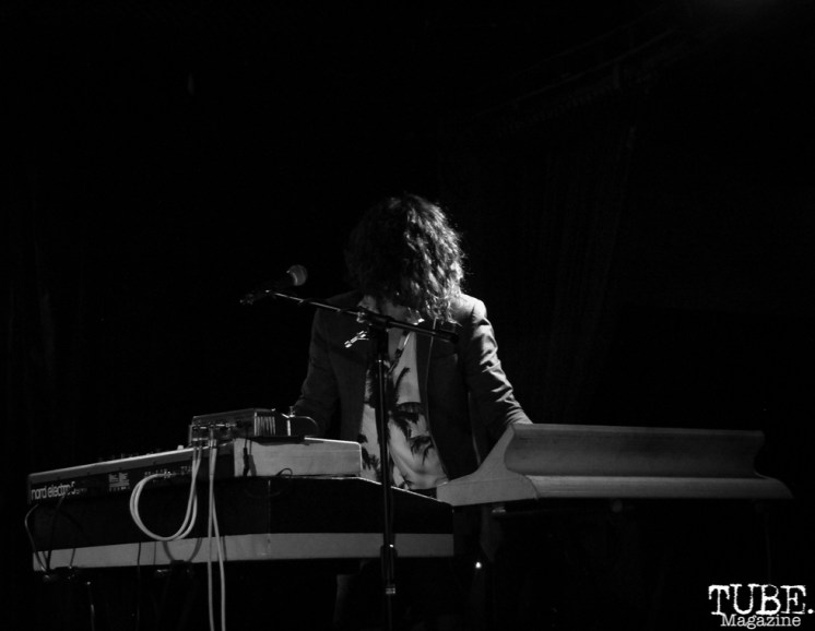 Guitarist and Synth Player Robb Fidel of The Soft White Sixties, Harlow's Restaurant and Nightclub, Sacramento, CA. September 18th, 2018. Photo Anouk Nexus