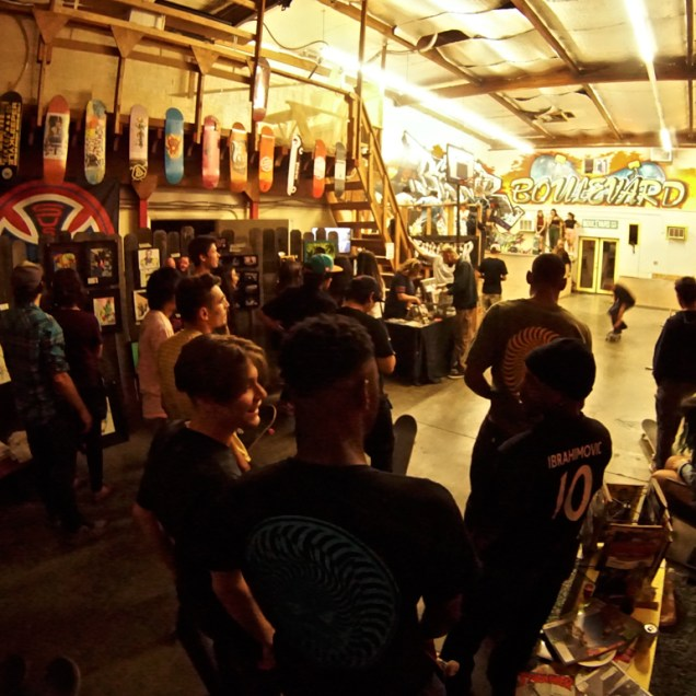 Boulevard Skate Shop, Art Show, September 22, 2018, Sacramento CA. Photo by Joey Miller